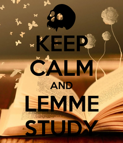 Poster: KEEP CALM AND LEMME STUDY
