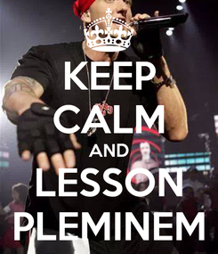Poster: KEEP CALM AND LESSON PLEMINEM