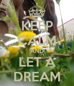 Poster: KEEP CALM AND LET A DREAM