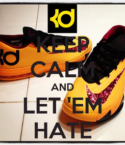 Poster: KEEP CALM AND LET 'EM HATE