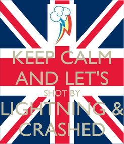 Poster: KEEP CALM AND LET'S SHOT BY LIGHTNING & CRASHED