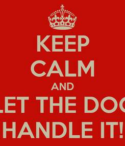 Poster: KEEP CALM AND LET THE DOC HANDLE IT!