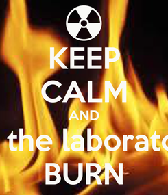 Poster: KEEP CALM AND let the laboratory BURN