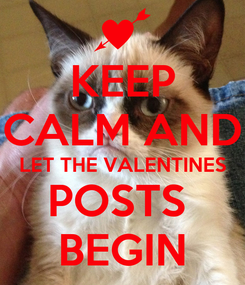 Poster: KEEP CALM AND LET THE VALENTINES POSTS  BEGIN