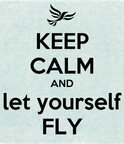 Poster: KEEP CALM AND let yourself FLY