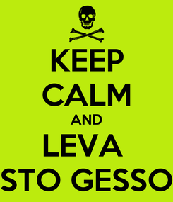 Poster: KEEP CALM AND LEVA  STO GESSO