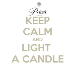 Poster: KEEP CALM AND LIGHT  A CANDLE
