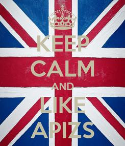 Poster: KEEP CALM AND LIKE APIZS