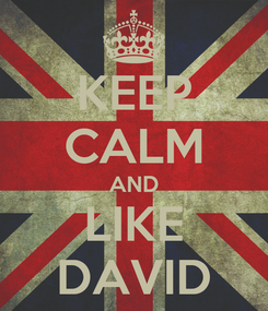 Poster: KEEP CALM AND LIKE DAVID