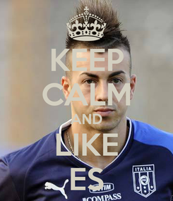 Poster: KEEP CALM AND LIKE ES