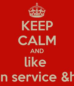 Poster: KEEP CALM AND like  firaaz banden service &honda tuning