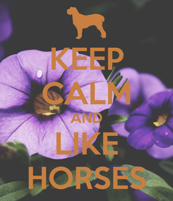 Poster: KEEP CALM AND LIKE HORSES