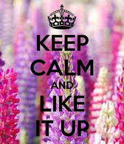 Poster: KEEP CALM AND LIKE IT UP