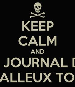 Poster: KEEP CALM AND LIKE JOURNAL D'UN METALLEUX TORDU