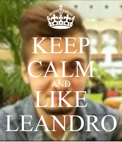 Poster: KEEP CALM AND LIKE LEANDRO
