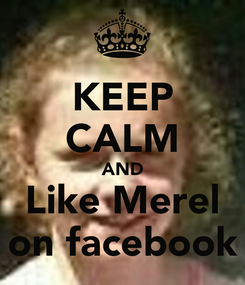 Poster: KEEP CALM AND Like Merel on facebook