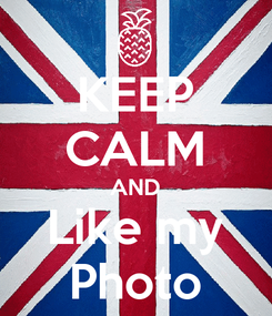 Poster: KEEP CALM AND Like my Photo