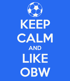 Poster: KEEP CALM AND LIKE OBW