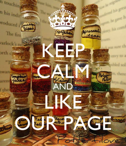 Poster: KEEP CALM AND LIKE OUR PAGE
