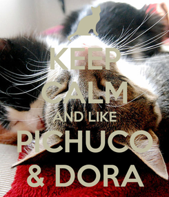 Poster: KEEP CALM AND LIKE PICHUCO & DORA