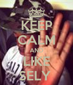 Poster: KEEP CALM AND LIKE SELY