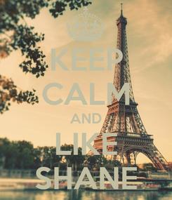 Poster: KEEP CALM AND LIKE SHANE