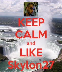 Poster: KEEP CALM and LIKE Skylon27