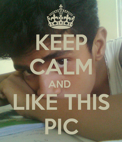 Poster: KEEP CALM AND  LIKE THIS PIC