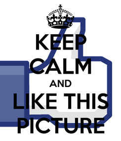 Poster: KEEP CALM AND LIKE THIS PICTURE