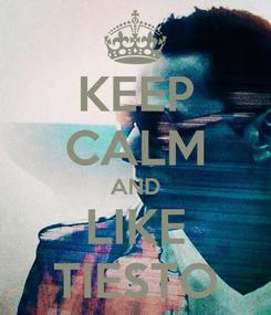 Poster: KEEP CALM AND LIKE TIESTO