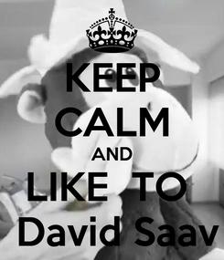 Poster: KEEP CALM AND LIKE  TO   David Saav