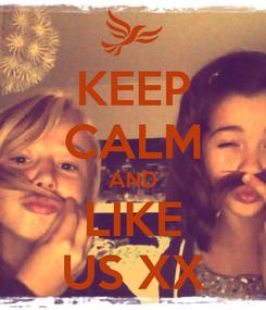 Poster: KEEP CALM AND LIKE US XX
