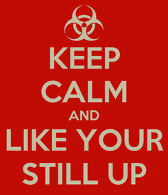 Poster: KEEP CALM AND LIKE YOUR STILL UP
