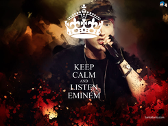 Poster: KEEP CALM AND LISTEN EMINEM