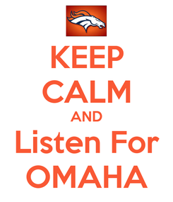 Poster: KEEP CALM AND Listen For OMAHA