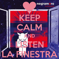 Poster: KEEP CALM AND LISTEN LA FINESTRA