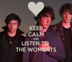 Poster: KEEP CALM AND LISTEN TO  THE WOMBATS