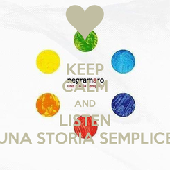 Poster: KEEP CALM AND LISTEN UNA STORIA SEMPLICE
