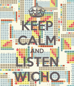 Poster: KEEP CALM AND LISTEN WICHO