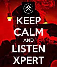 Poster: KEEP CALM AND LISTEN XPERT