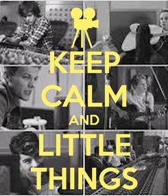 Poster: KEEP CALM AND LITTLE THINGS
