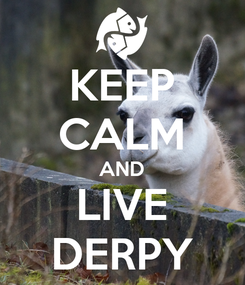 Poster: KEEP CALM AND LIVE DERPY