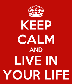 Poster: KEEP CALM AND LIVE IN YOUR LIFE