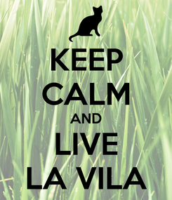 Poster: KEEP CALM AND LIVE LA VILA