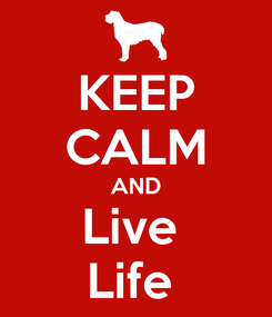 Poster: KEEP CALM AND Live  Life