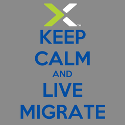 Poster: KEEP CALM AND LIVE MIGRATE