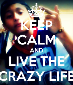 Poster: KEEP CALM AND LIVE THE CRAZY LIFE