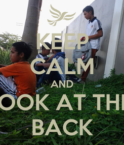 Poster: KEEP CALM AND LOOK AT THE  BACK