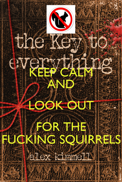 Poster: KEEP CALM AND LOOK OUT FOR THE FUCKING SQUIRRELS