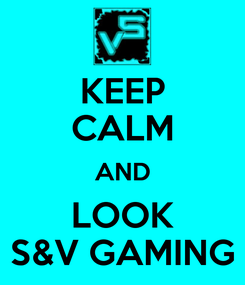 Poster: KEEP CALM AND LOOK S&V GAMING